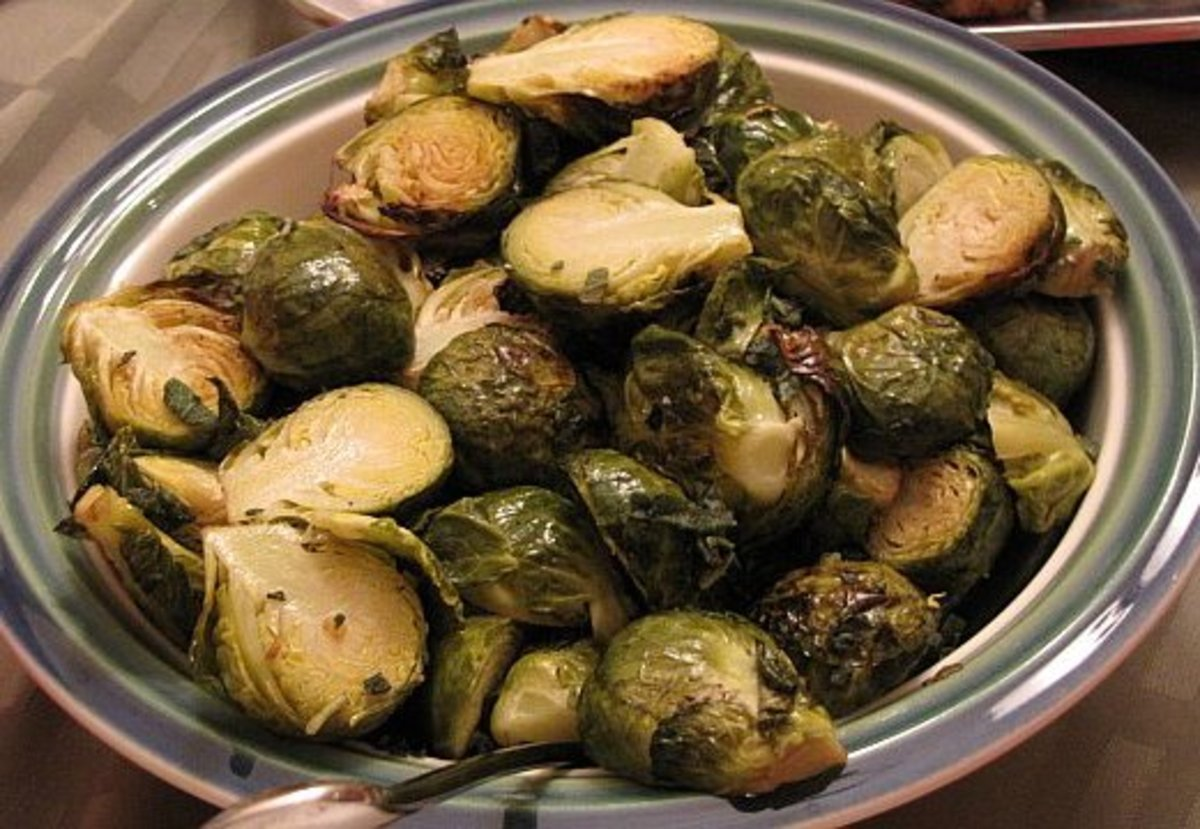 Roasted Brussel Sprouts with Sage Butter