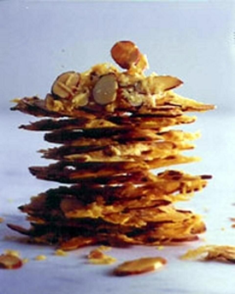 Almond Parmesan Crisps