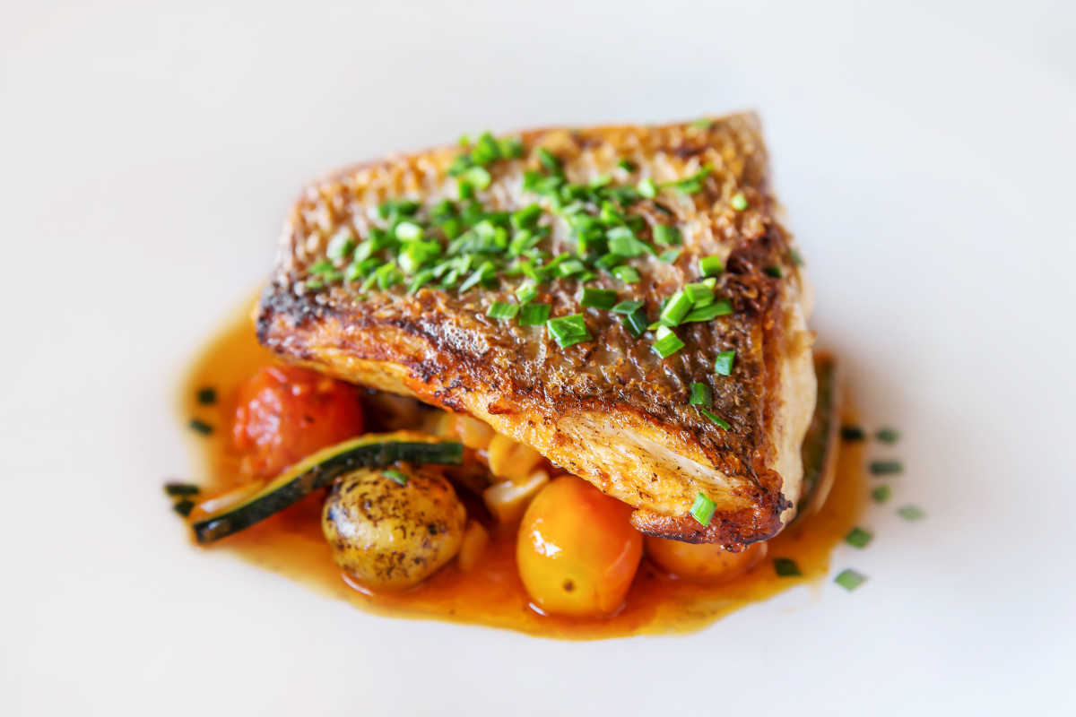 roasted snapper with citrus reduction