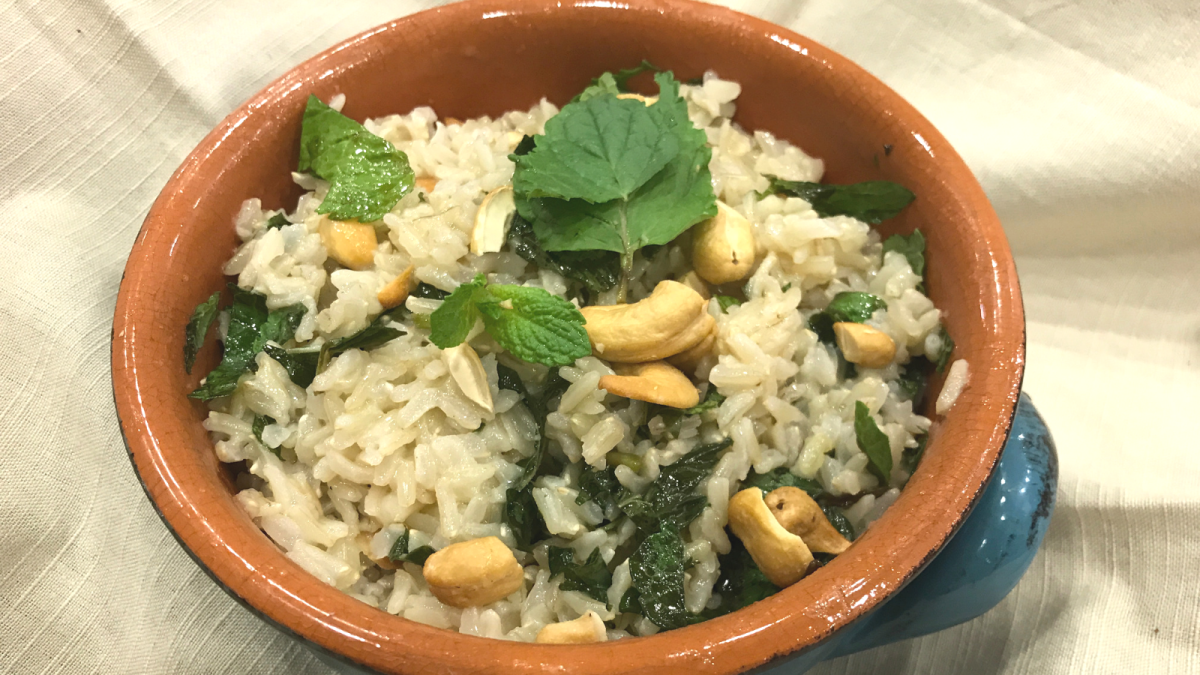 brown basmati rice pilaf