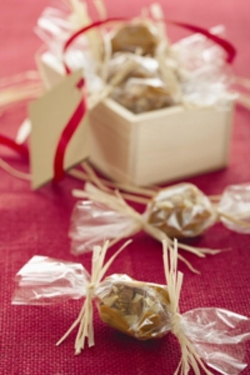 Vanilla Almond Caramels With Sea Salt