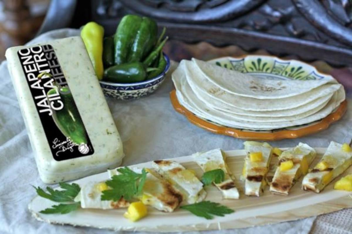 mango jalapeño quesadillas