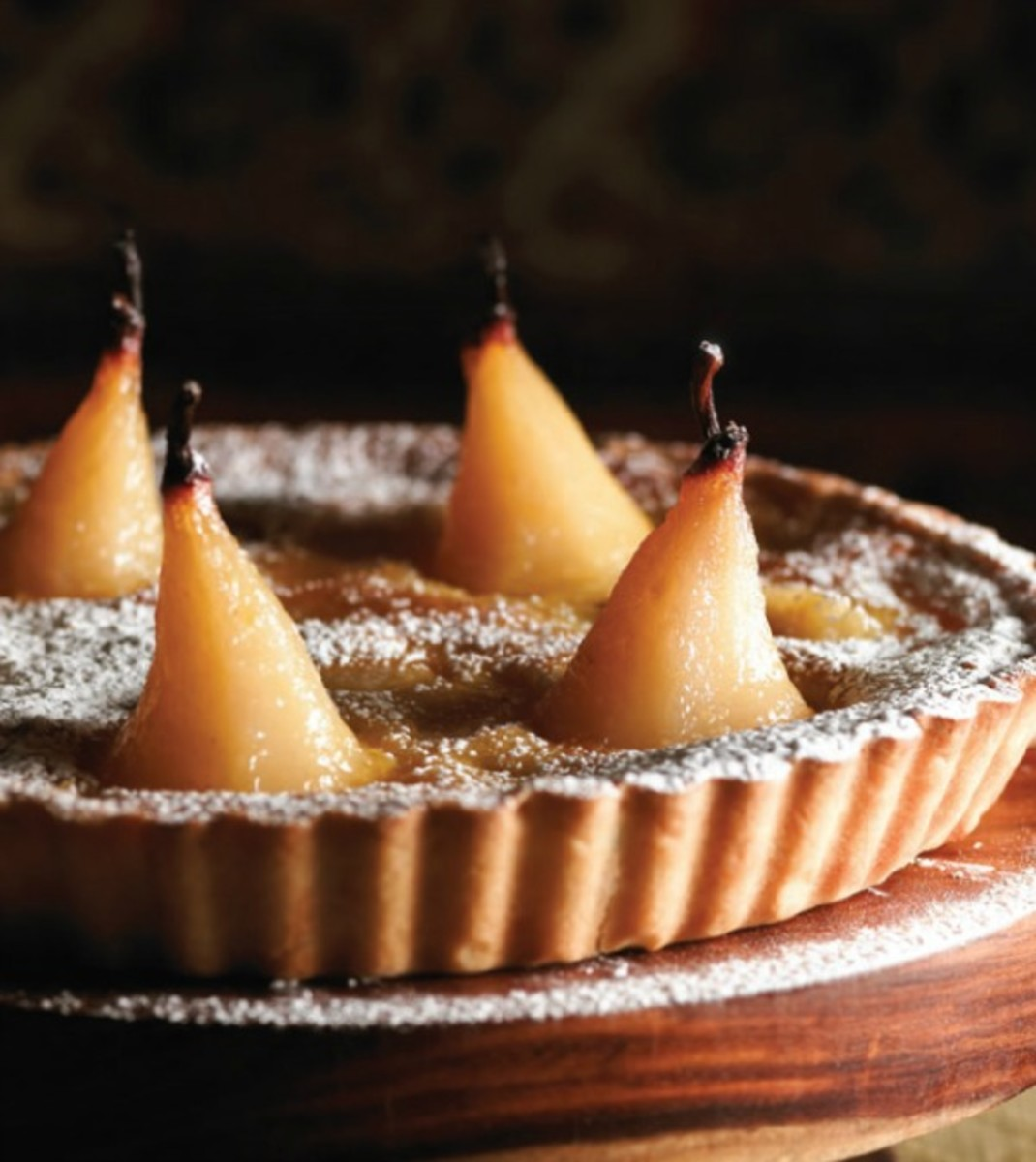 Glazed Pear Tart