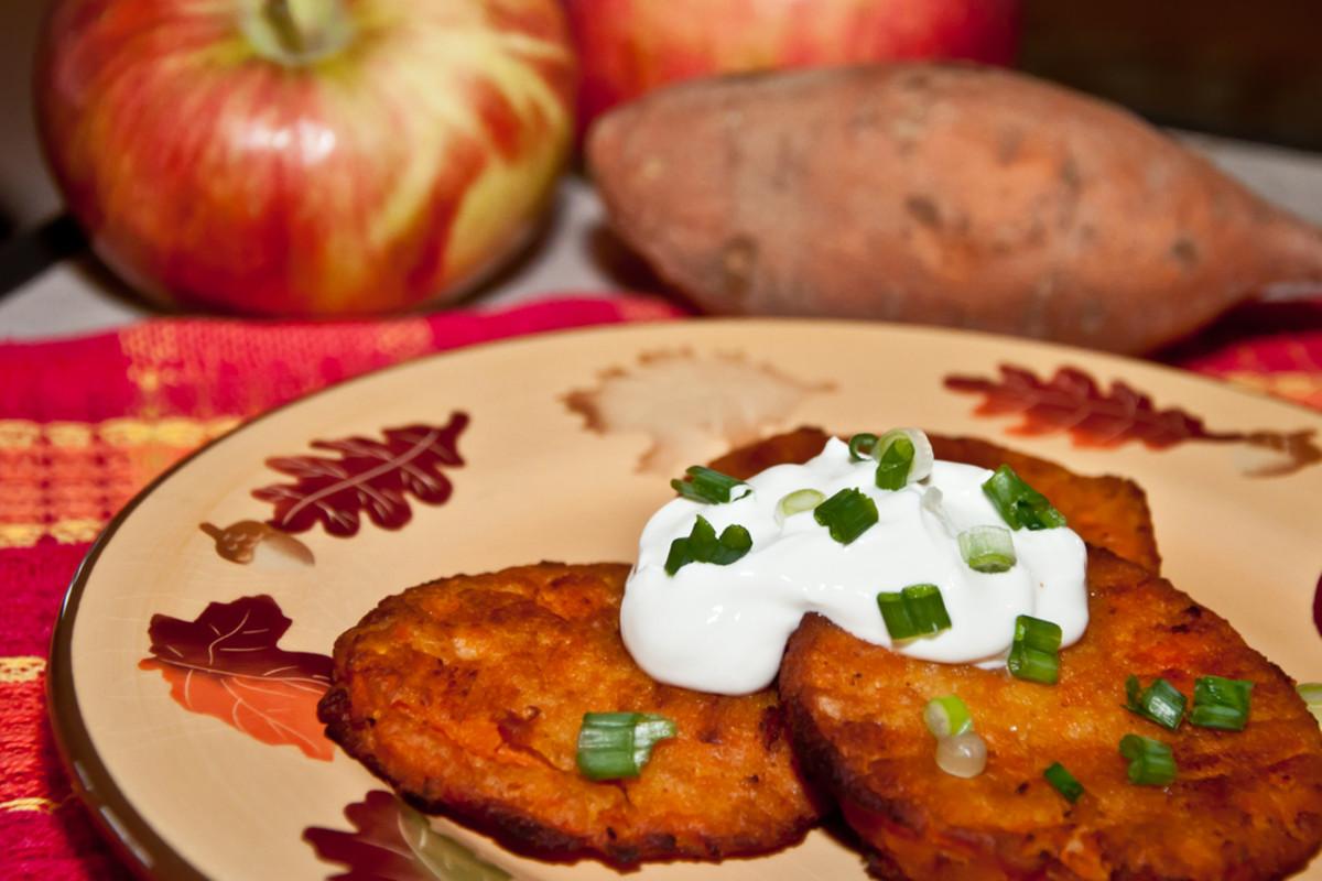sweet sweet potato latkes