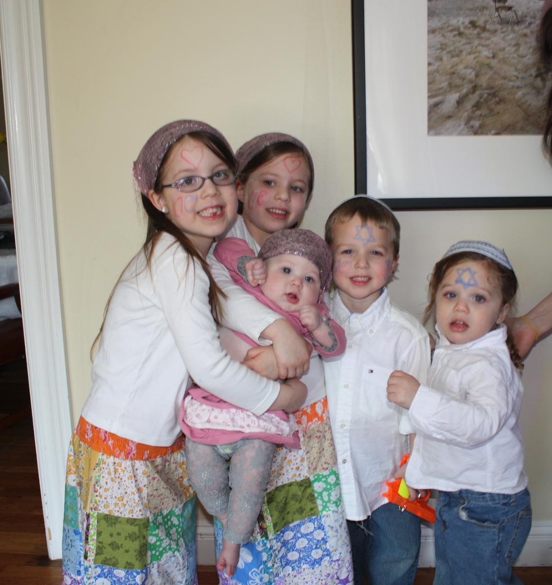 Jamie Geller Family Dressed Israeli