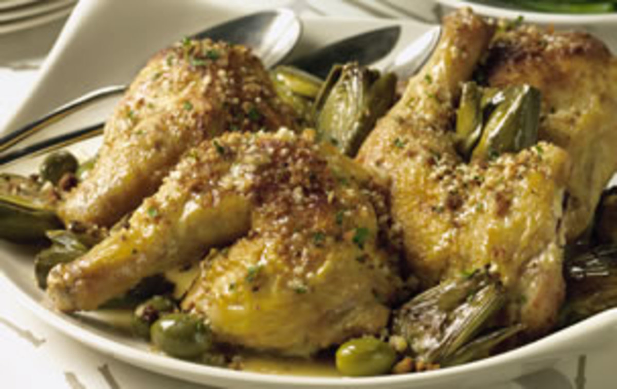 Chicken with Artichokes and Olives