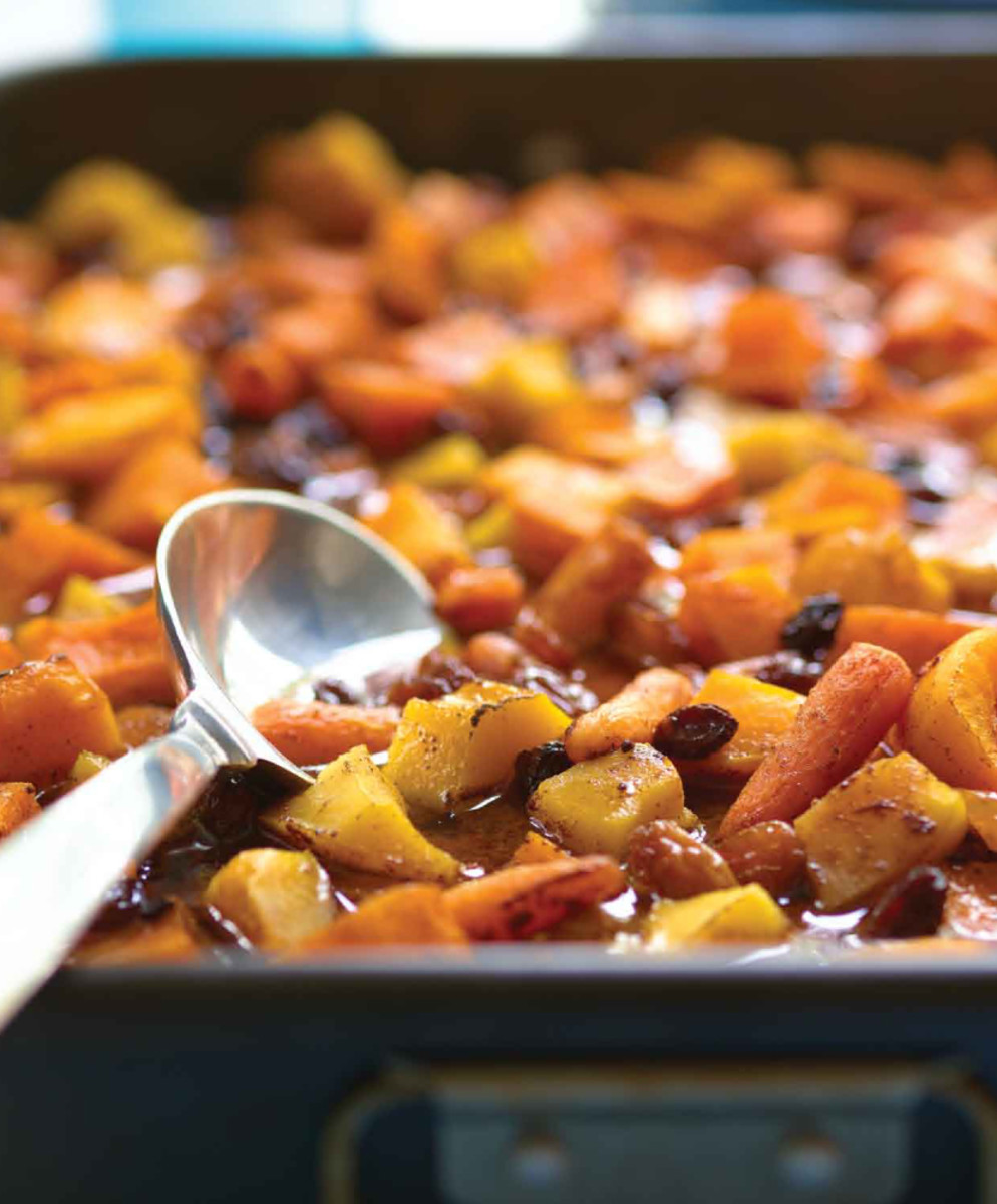 Roasted Sweet Vegetables with Cider