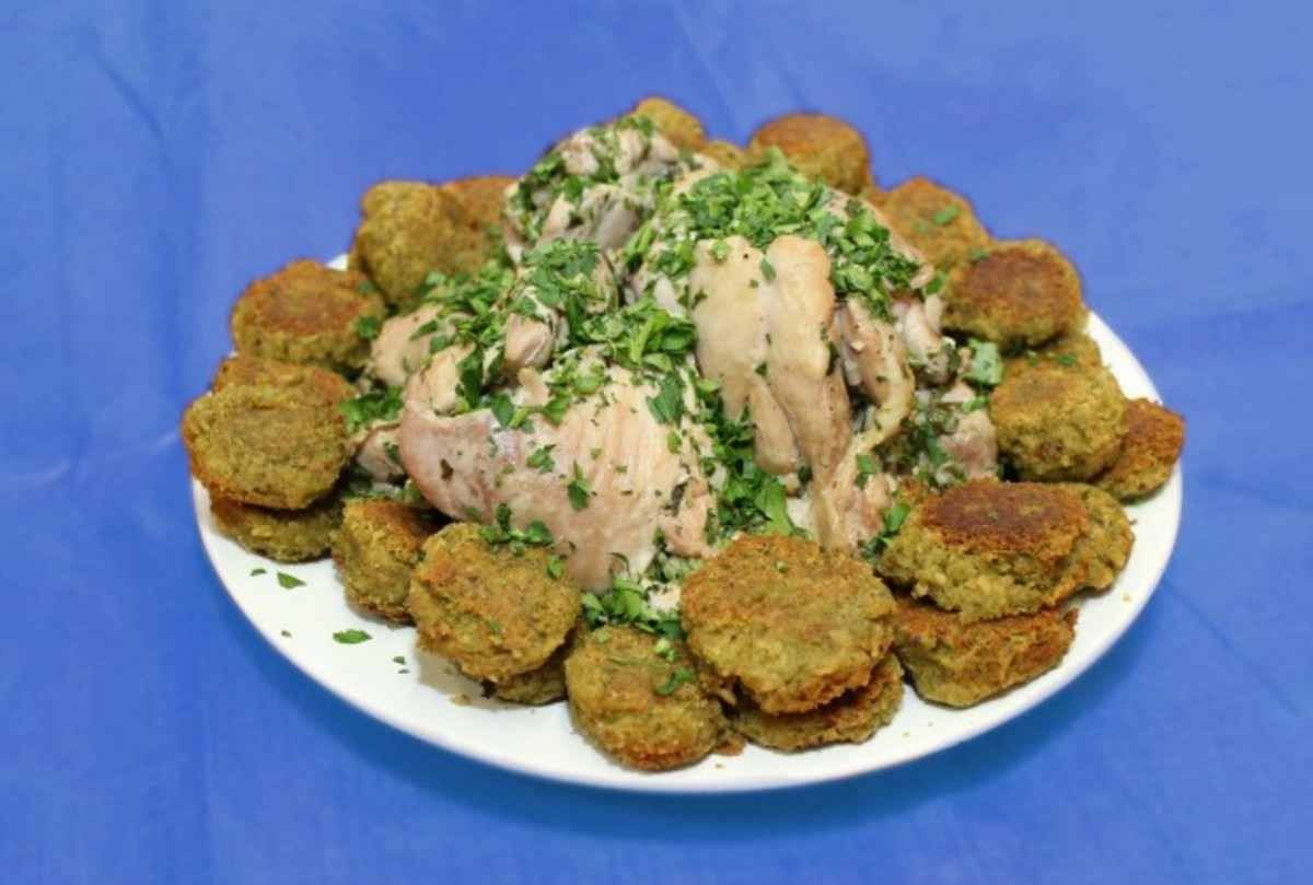 chicke and falafel
