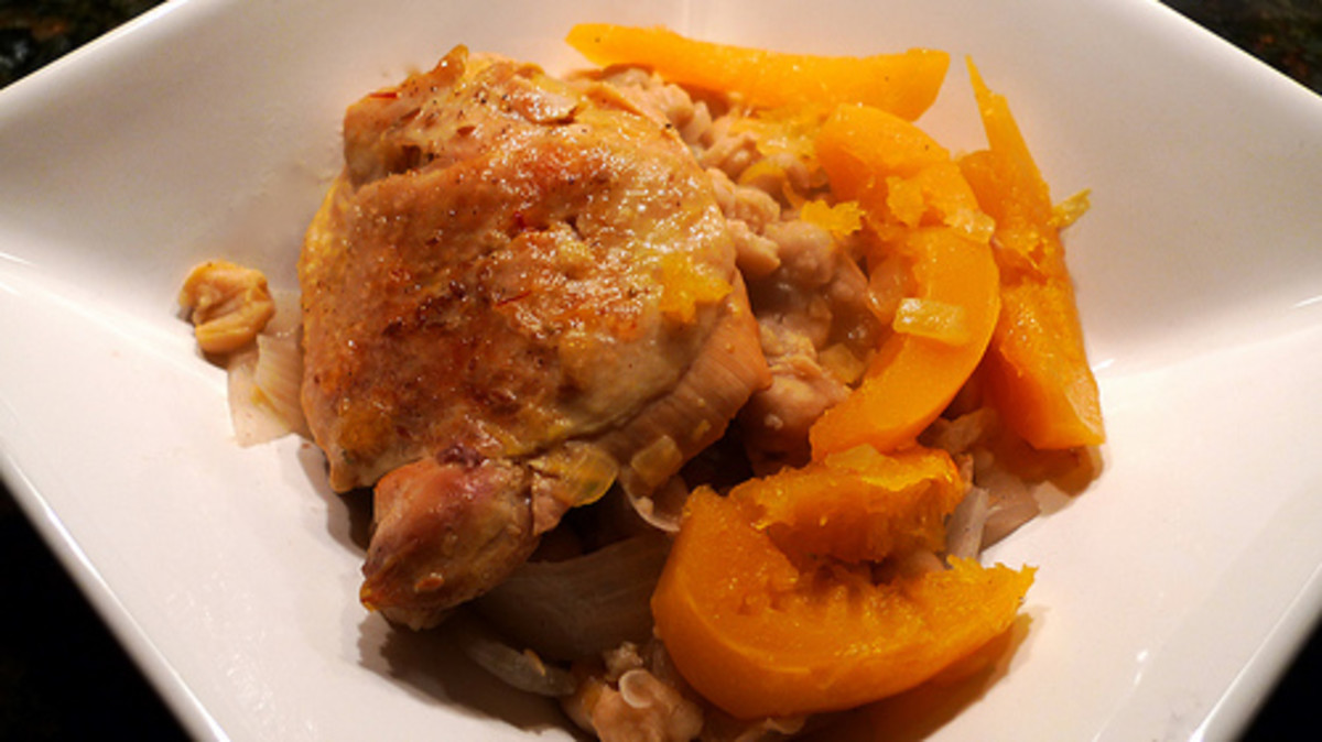 Chicken Tagine with Fennel and Chick Peas