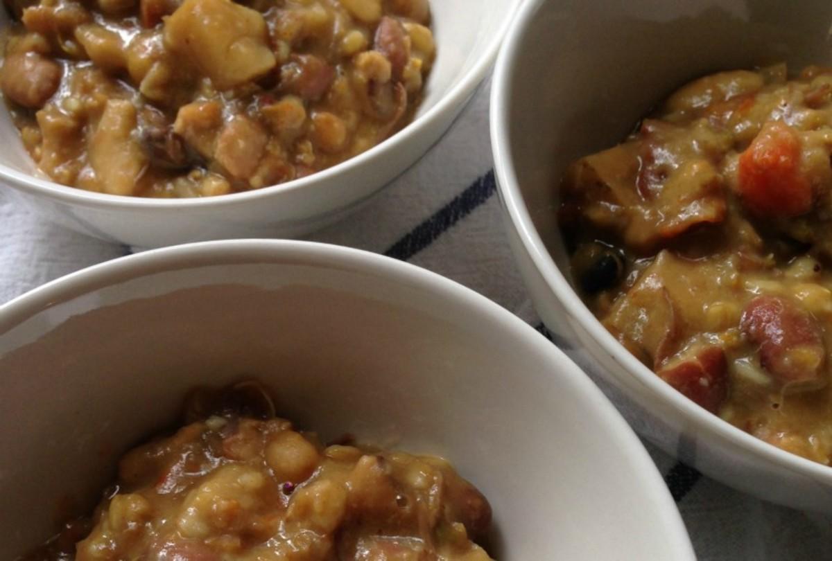 Healthier Root Vegetable Cholent Slow Cooker Stew