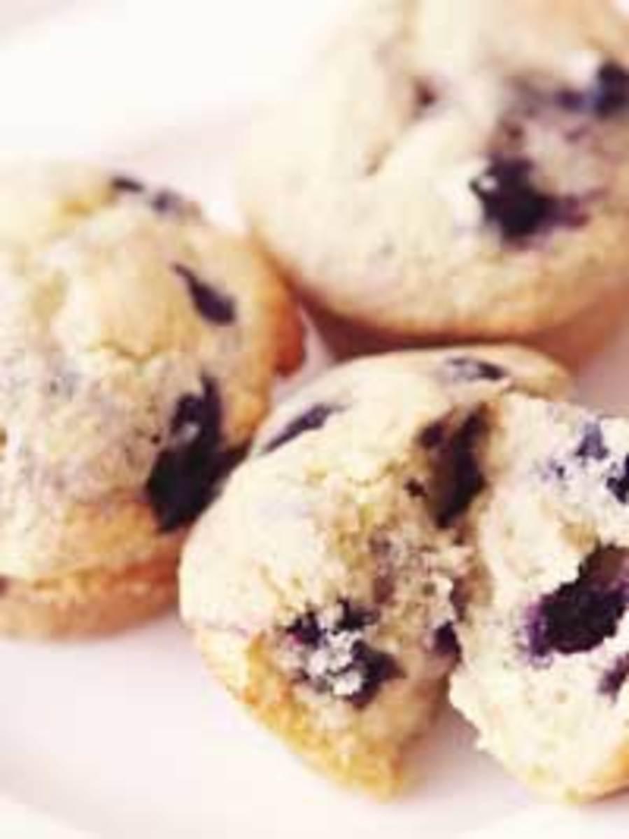 Wild Blueberry Gingered Lemon Muffins