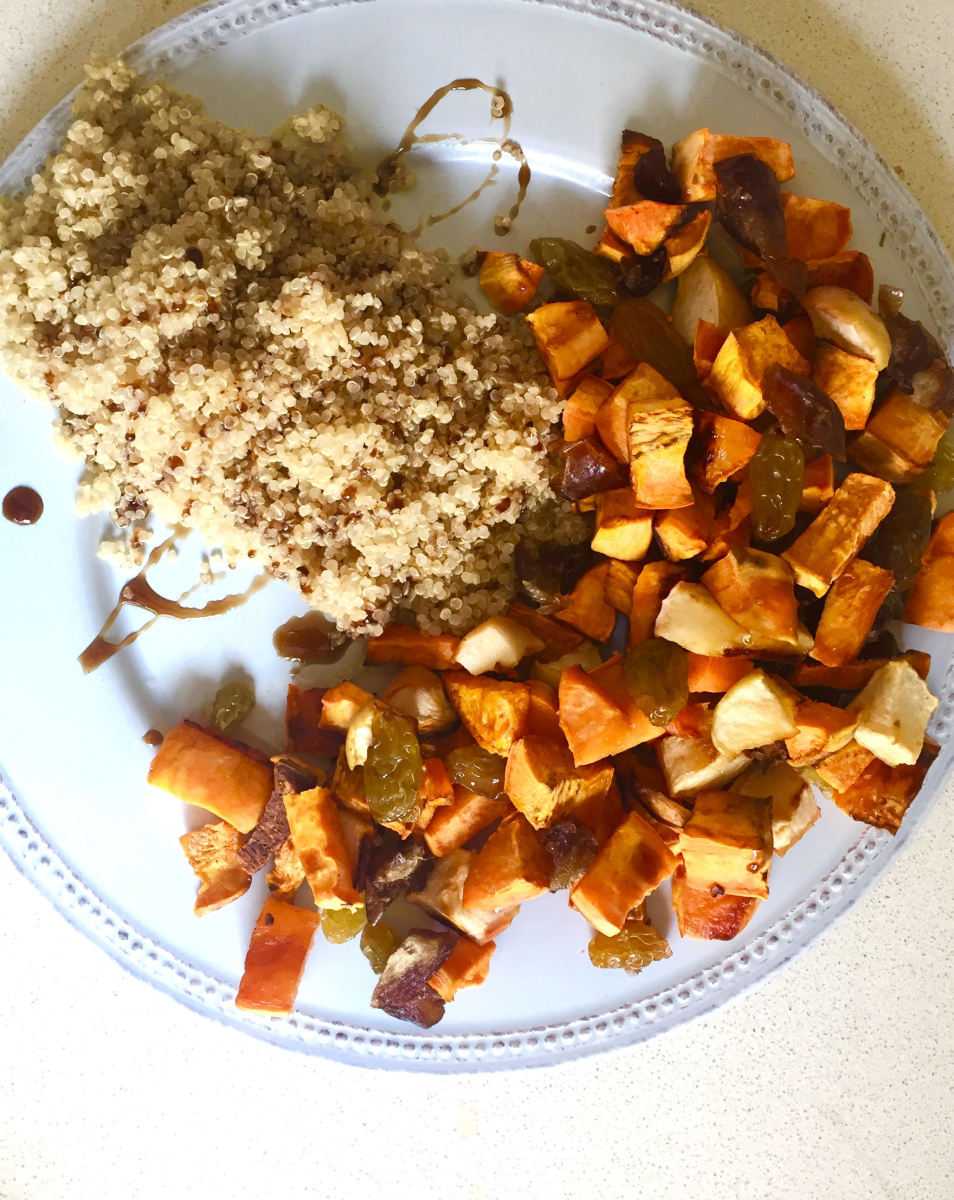 Quinoa with Fruits and Yams