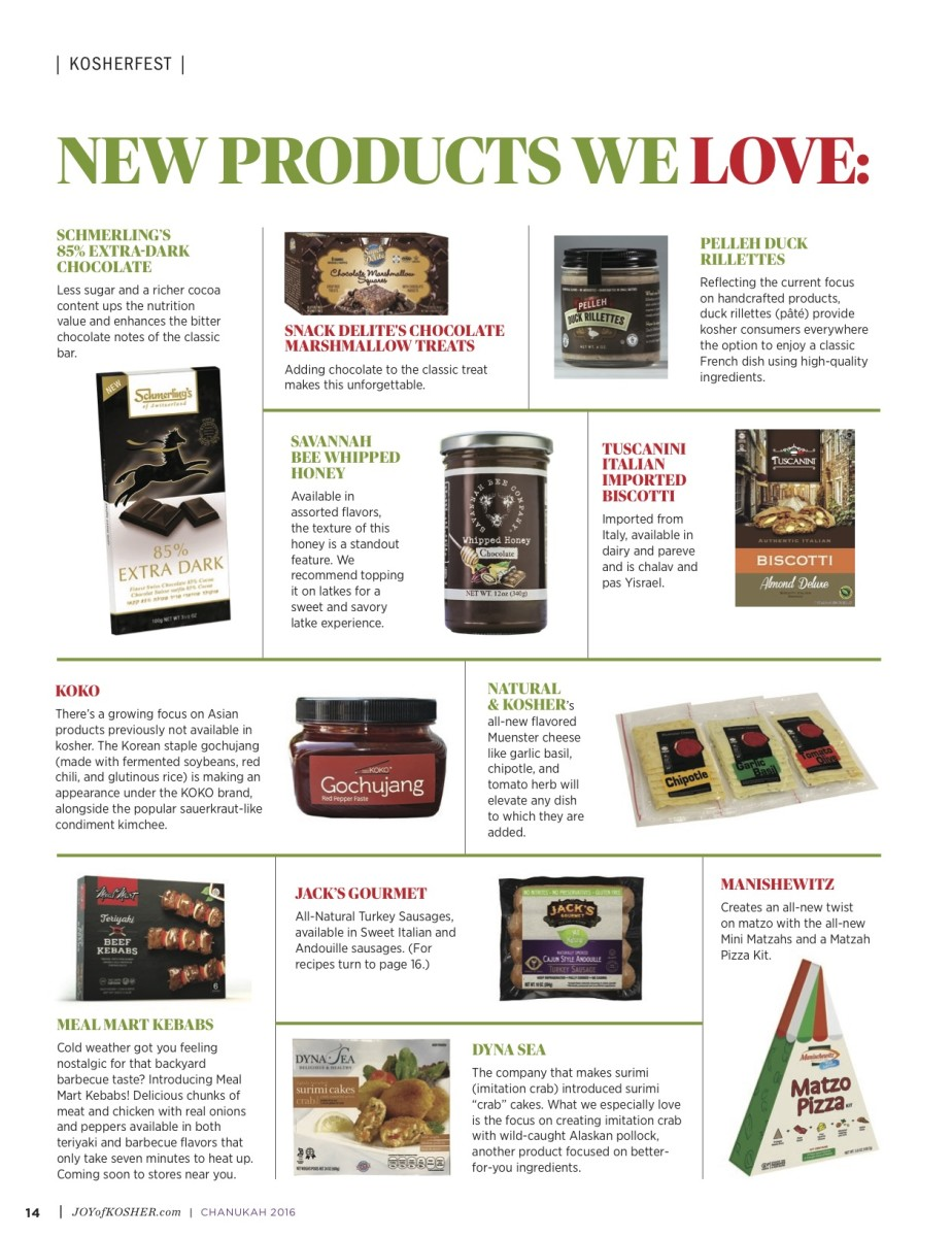 Kosherfest new products