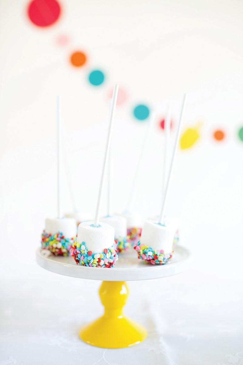 Confetti Marshmallow Pops