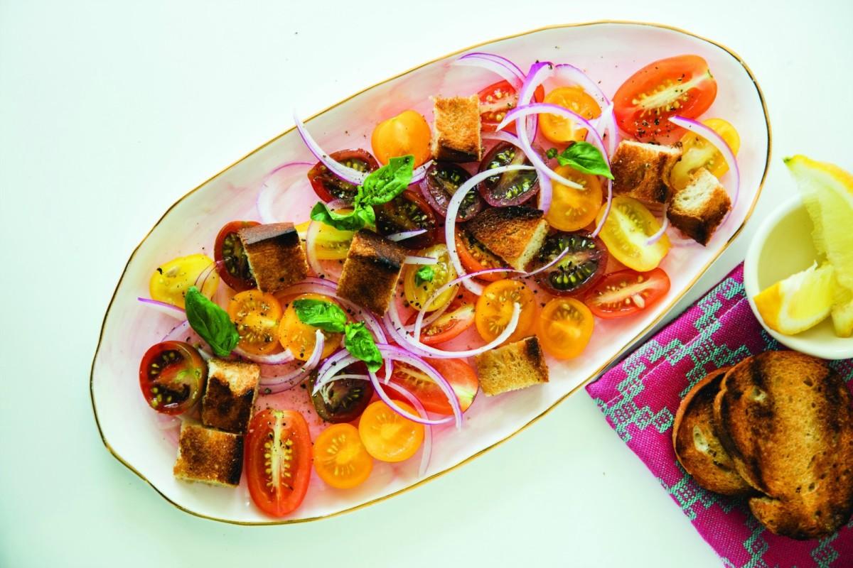 Grilled Bread Salad horizontal