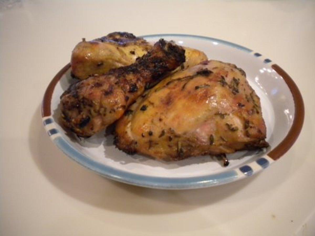 """Grilled """"Buttermilk"""" Chicken with Herbs"""