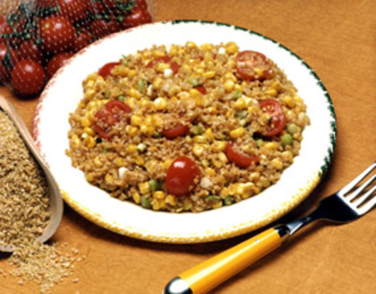 Toasted Corn & Bulgur Salad