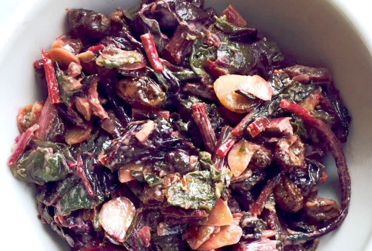 Sweet and Spicy Swiss Chard