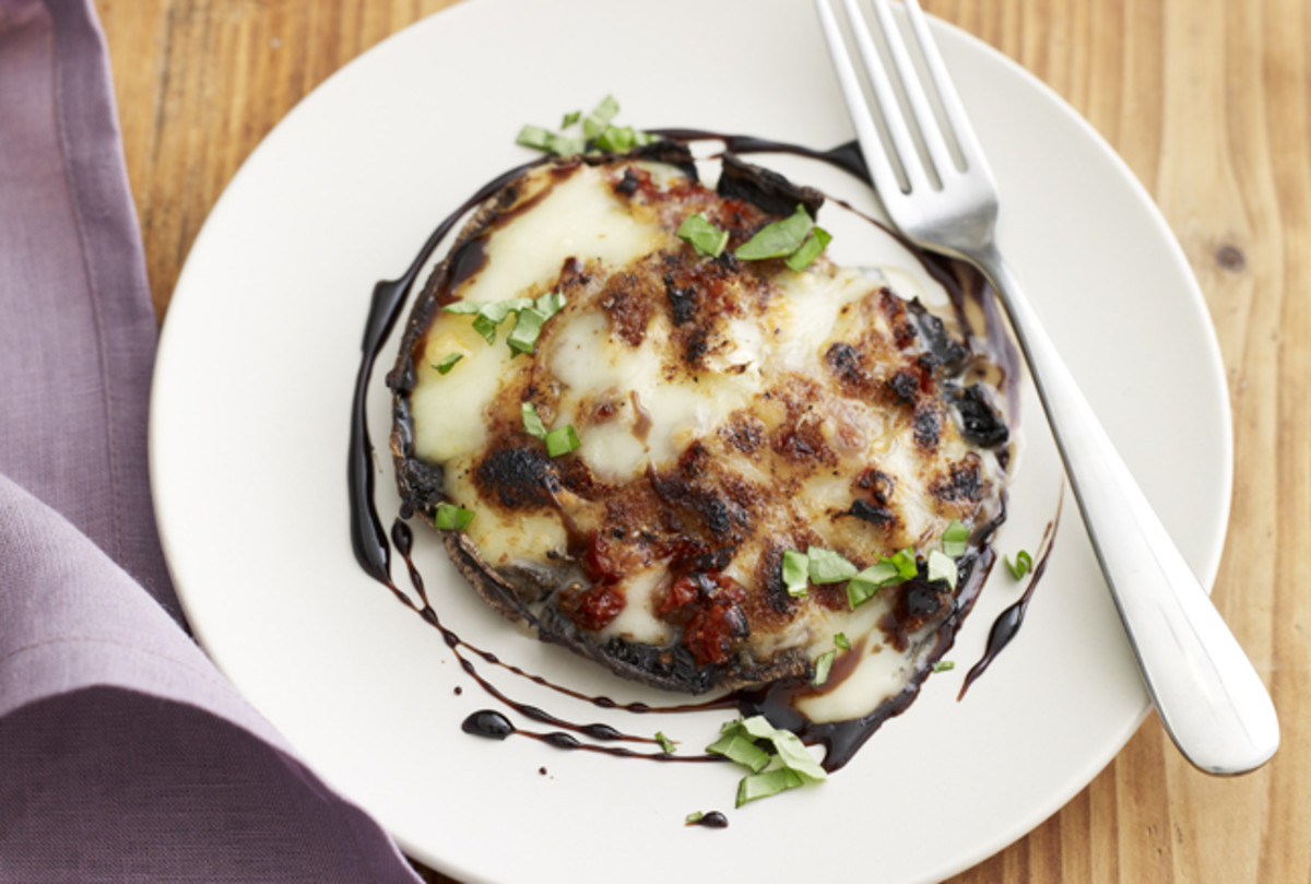 Sundried Tomato and Brie Stuffed Portabella