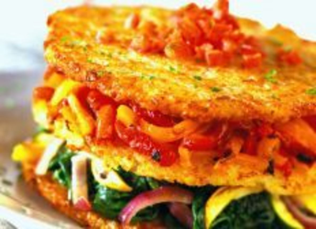 Potato Napoleon with Vegetables