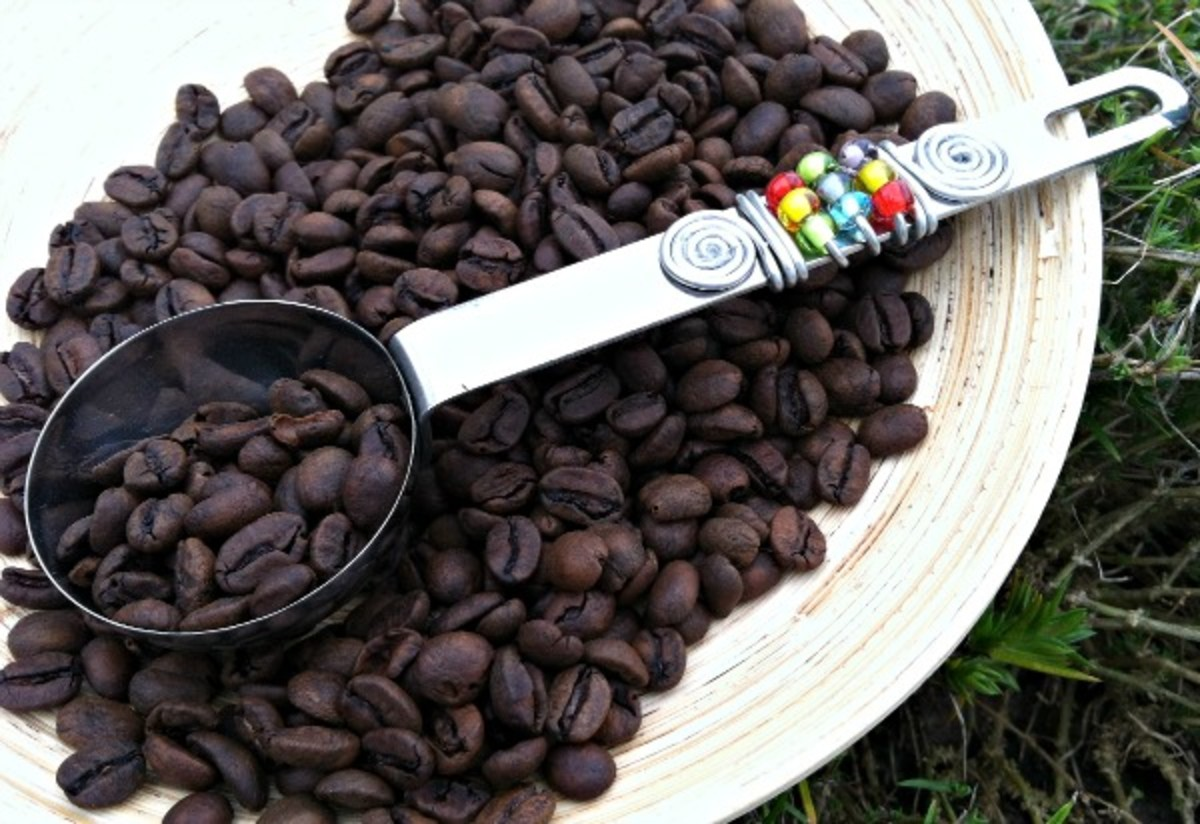swirl coffee scoop