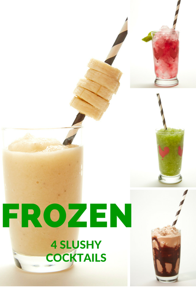 4 Slushy Frozen Cocktail Drinks
