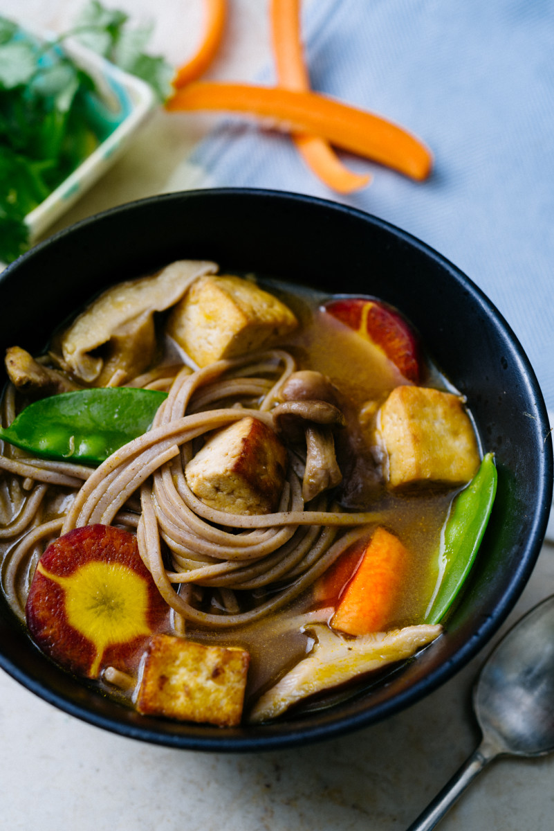 Soba Noodle Vegetable Soup