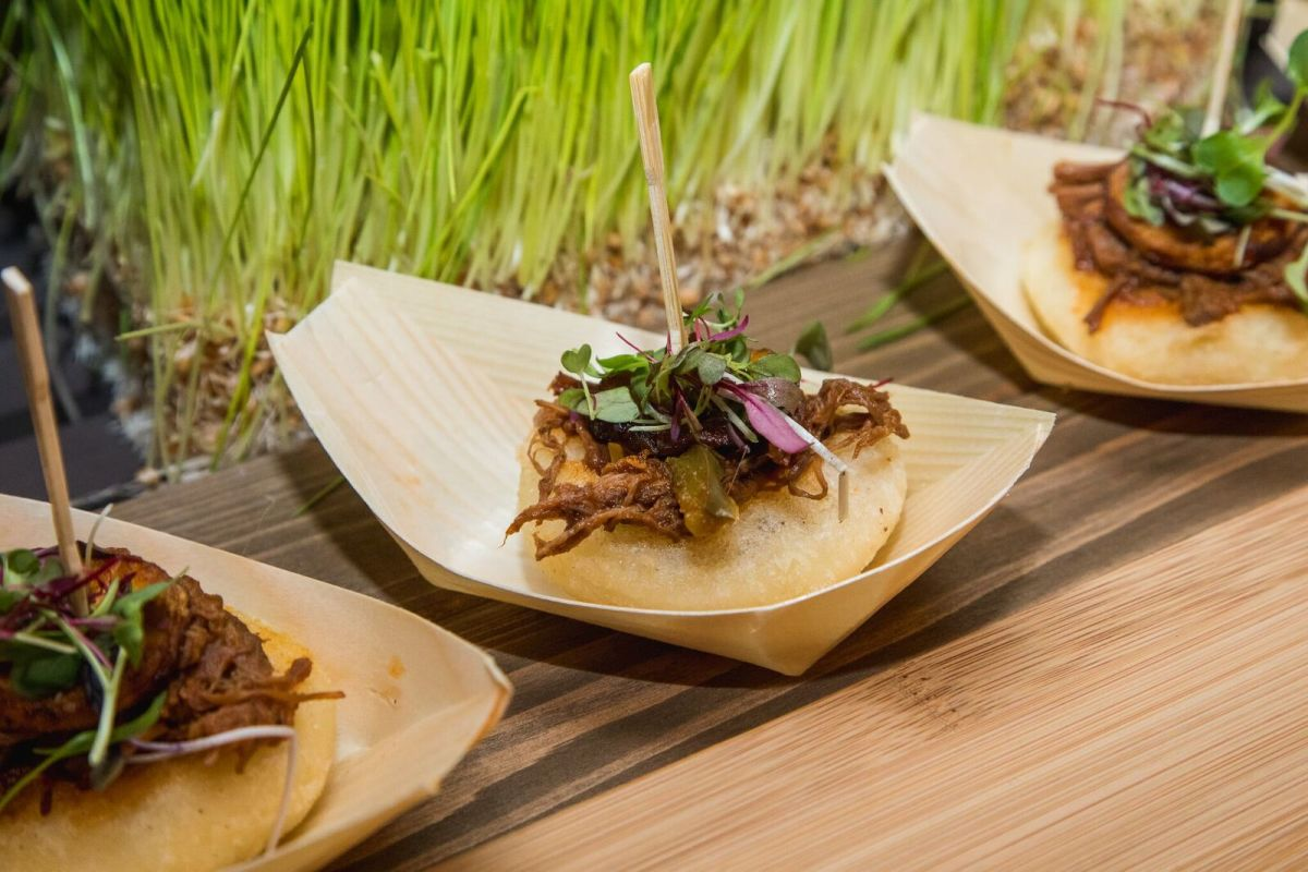 Arepas with pulled beef & sweet plantains