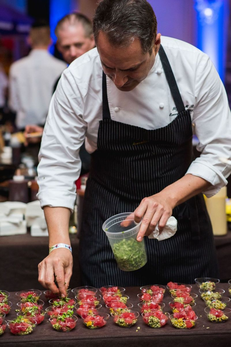 Executive Chef Itzik Mizrachi Barak of the Waldorf Astoria Jerusalem, represented modern Israeli cuisine with this fresh tuna tartare inspired by tabouleh.