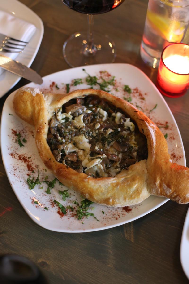 Marani's Meat Mushroom Khachapuri