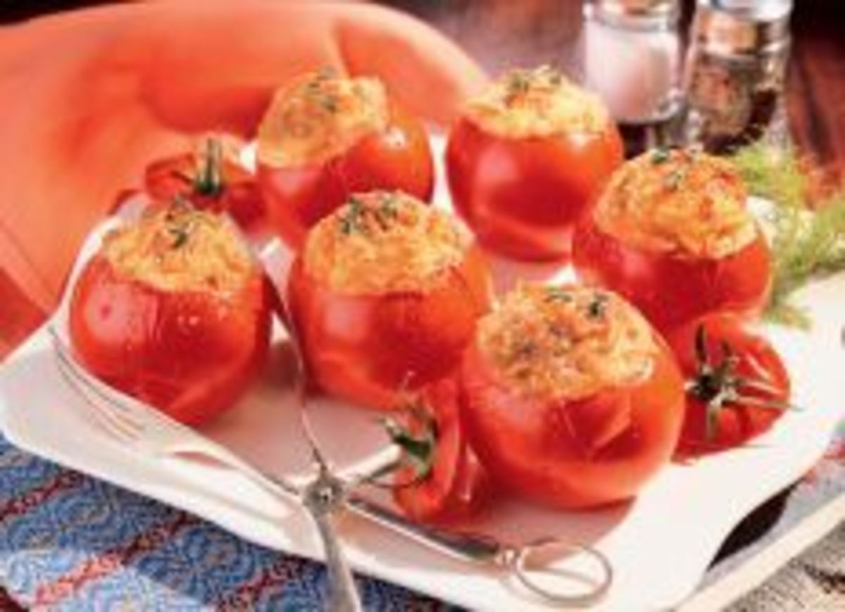 baked-tomatoes-with-cheesy-Idaho-potatoes