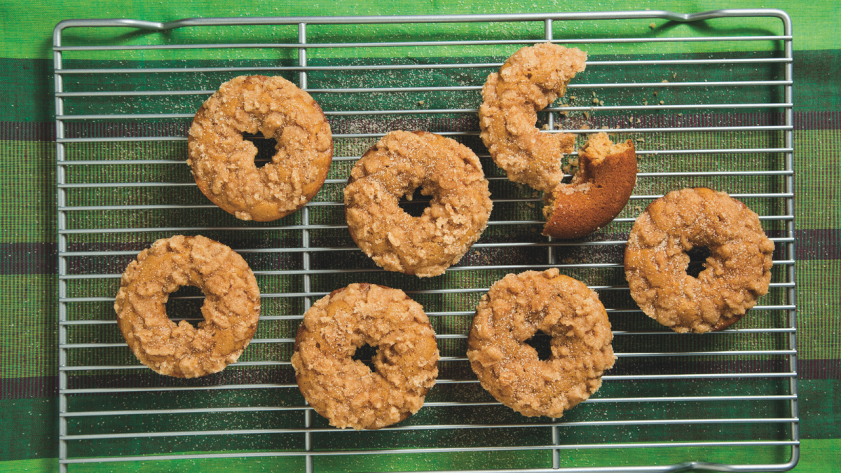 Baked Honey Crumb Doughnuts