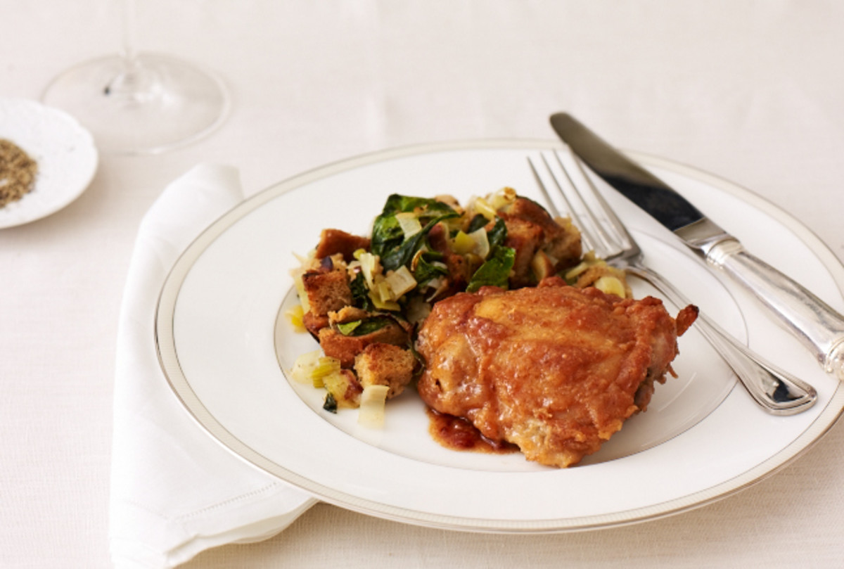 Date and Honey Glazed Chicken Thighs