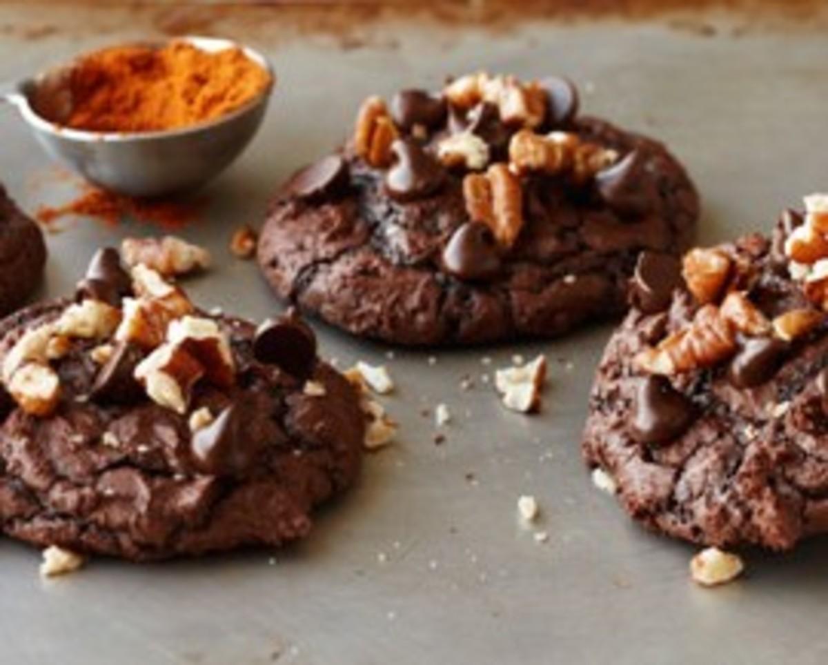 Spicy Hot Chocolate Brownie Cookies