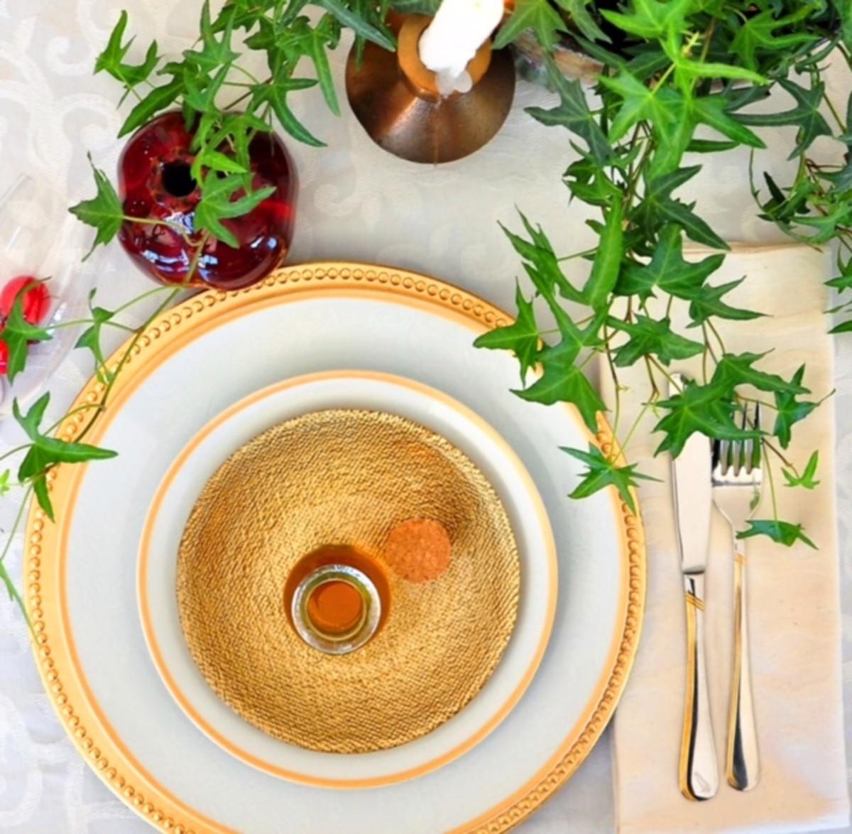 Rosh Hashanah Tablescape