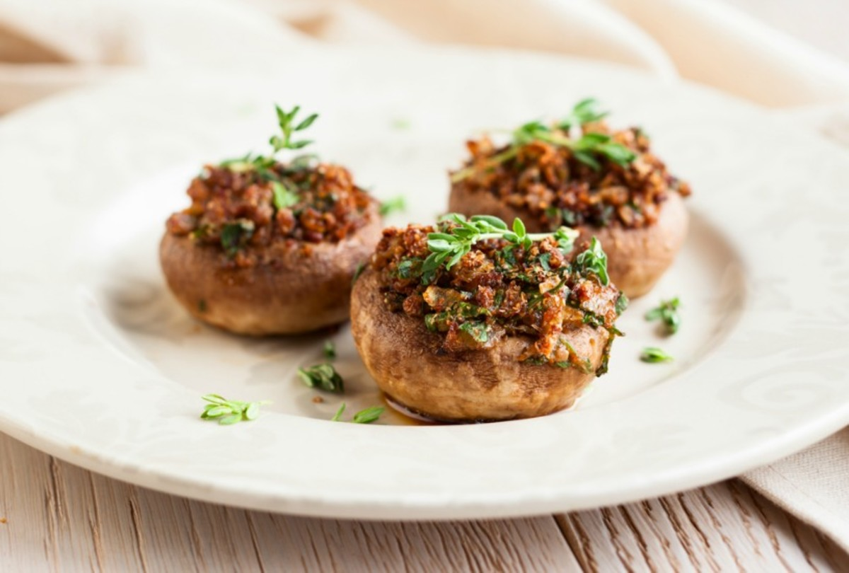 salmai stuffed mushrooms
