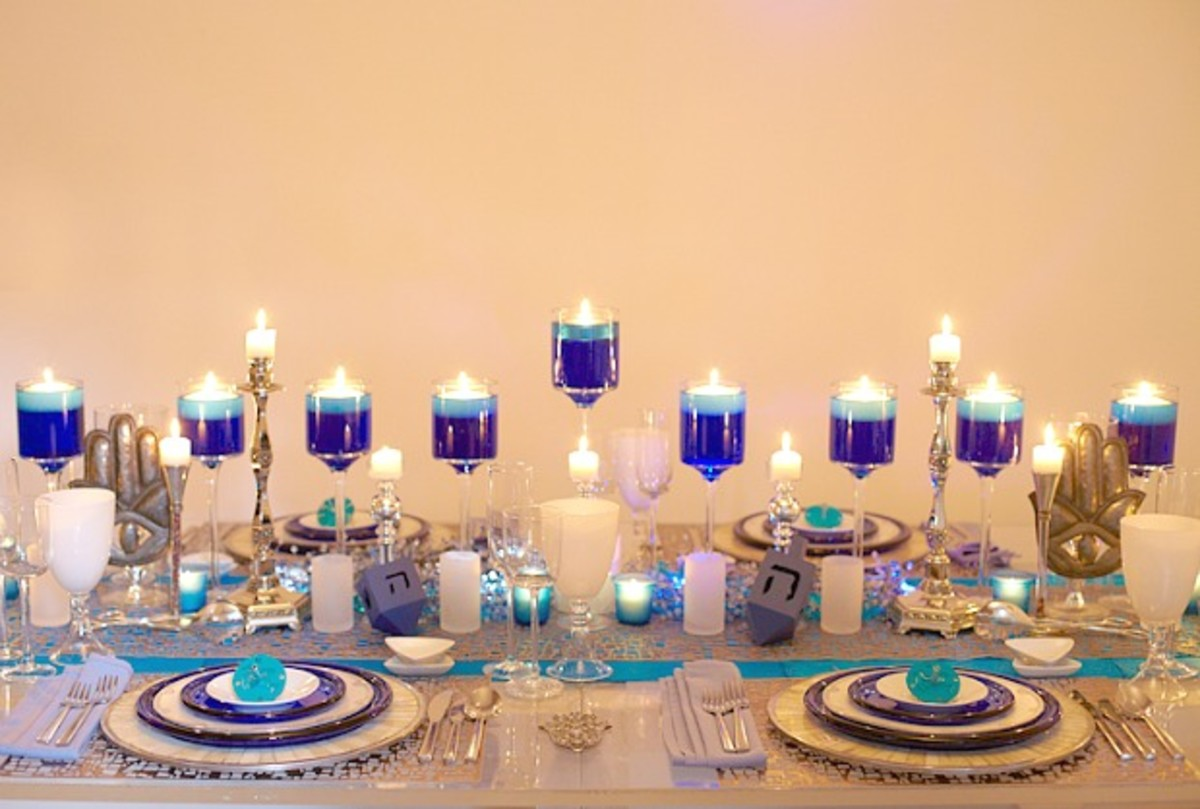 Chanukah Menorah Table