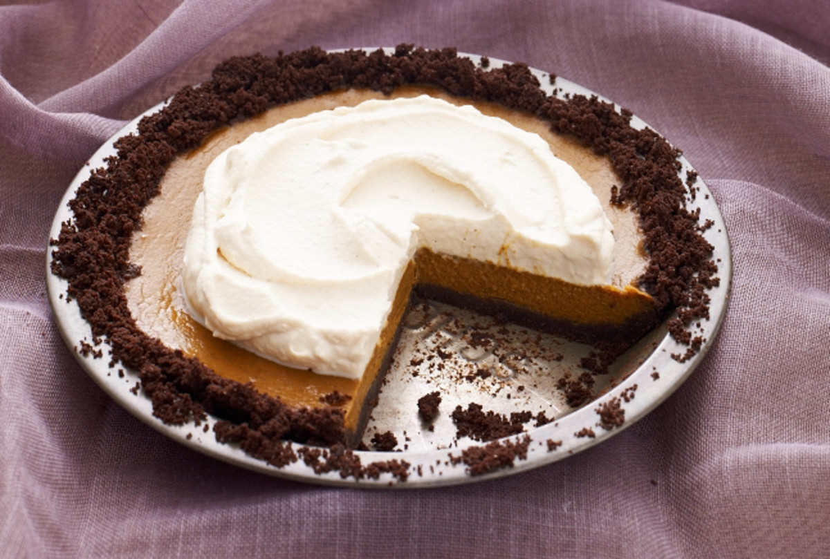 Pumpkin Pie with Caramel Whipped Cream