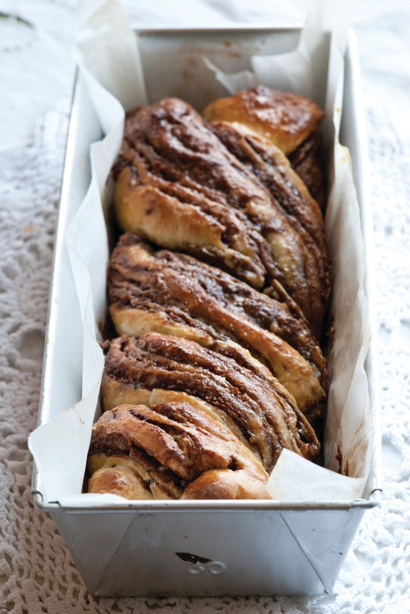 Halva and Chocolate Babka