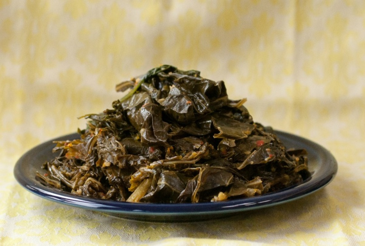 slow cooked greens, brazilian style