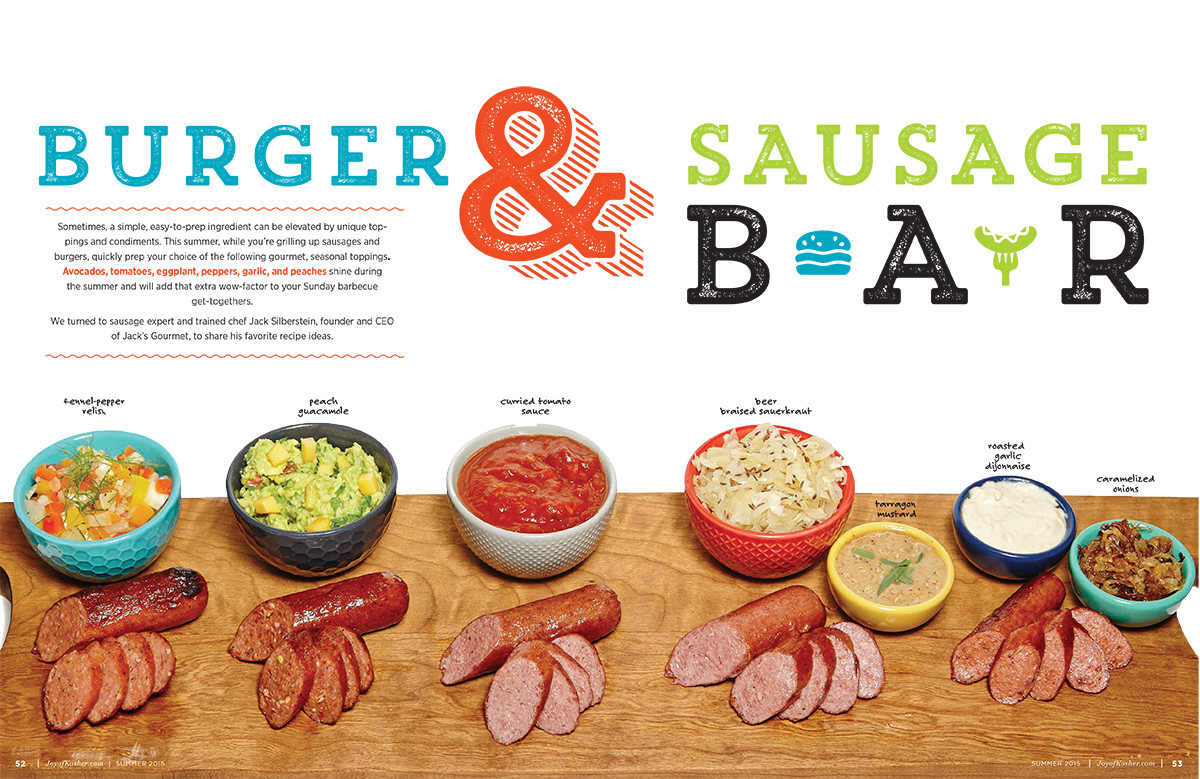 Burger and Sausage Bar Spread