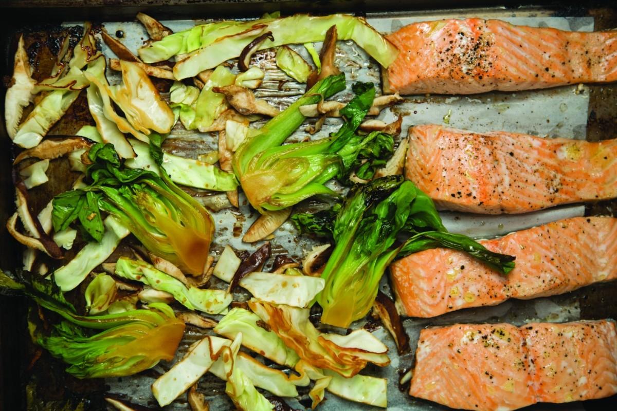 Sheet Pan Asian Roasted Salmon