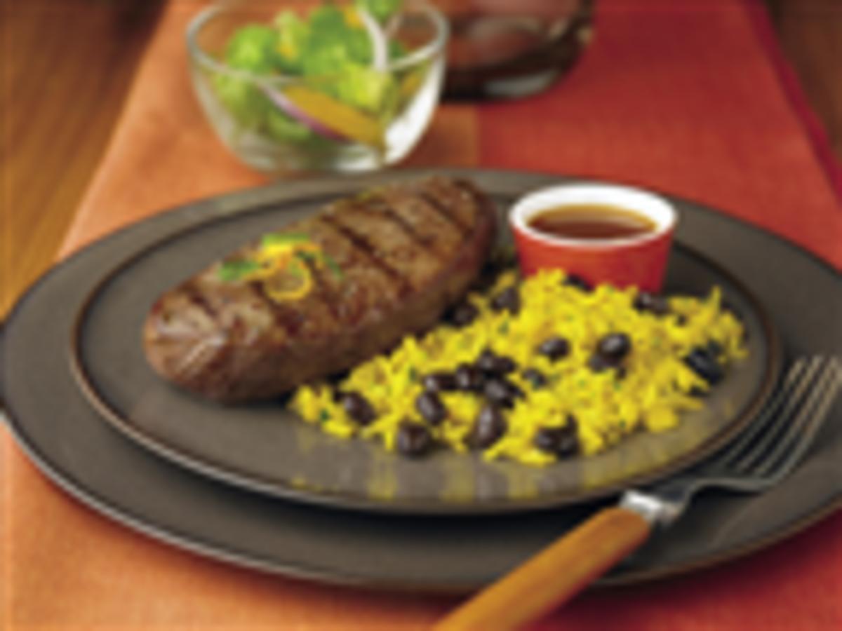 Ranch Steaks with Citrus-Jalapeño Mojo
