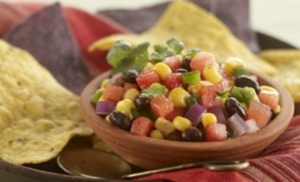 Watermelon, Black Bean and Corn Salsa
