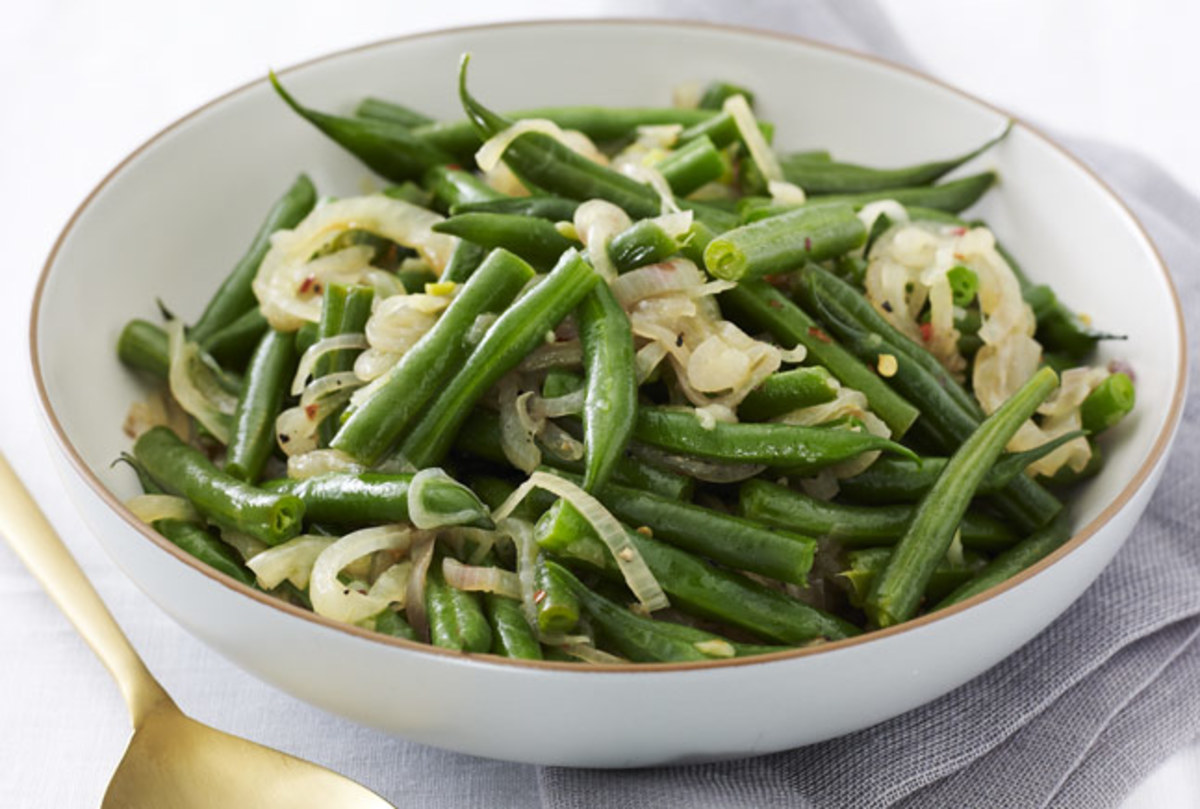 Green Bean Three Onion Saute