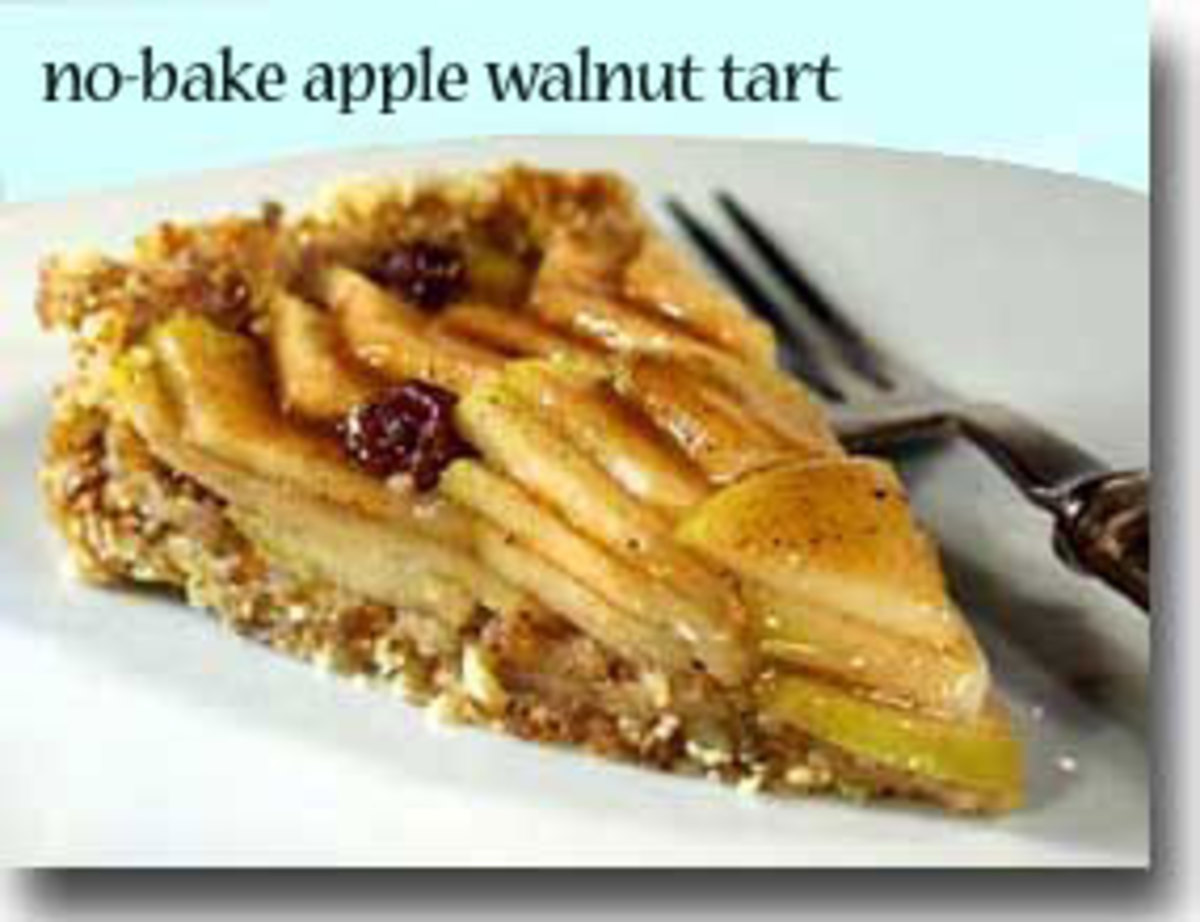 No-Bake Apple Walnut Tart
