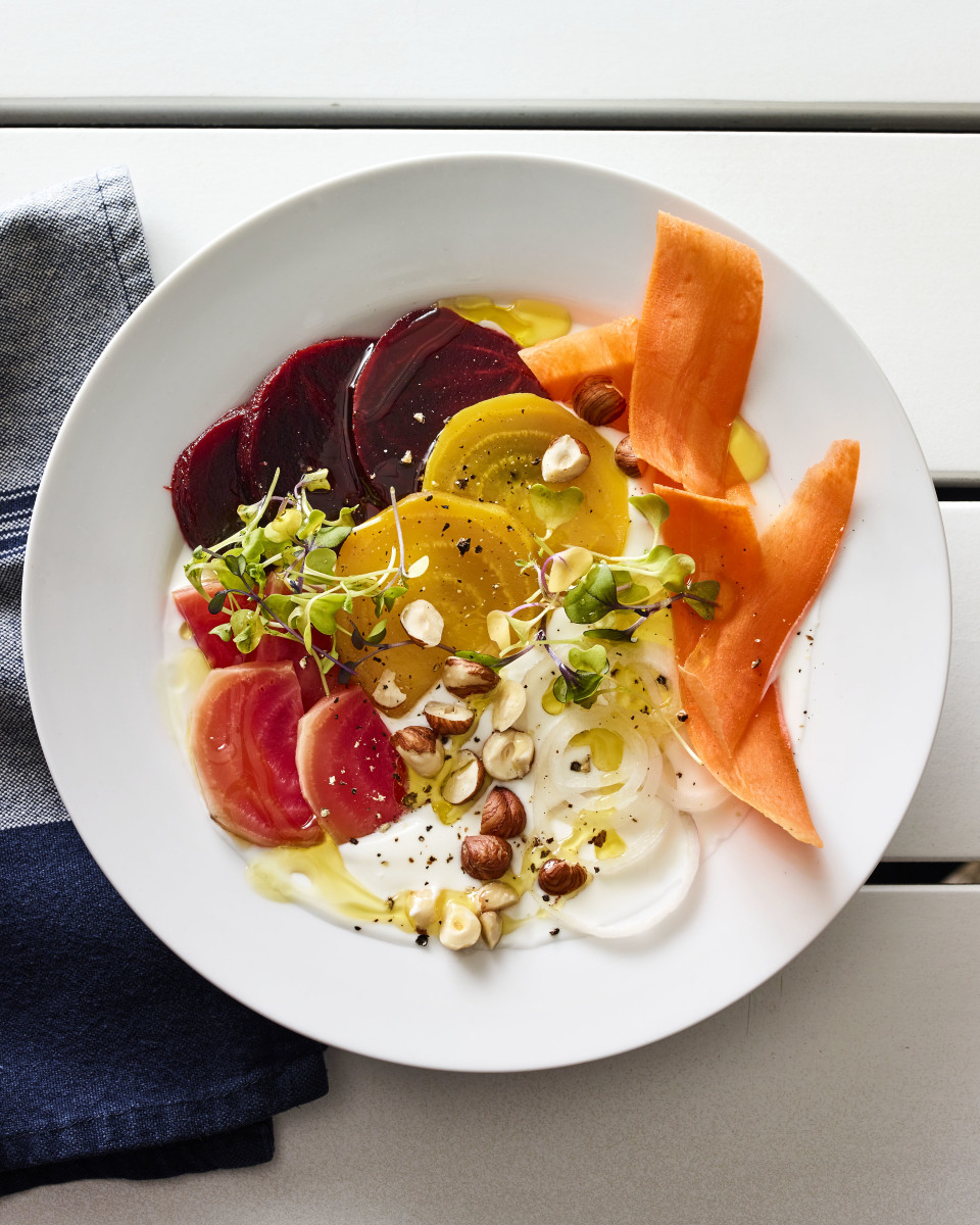 beet yogurt bowl