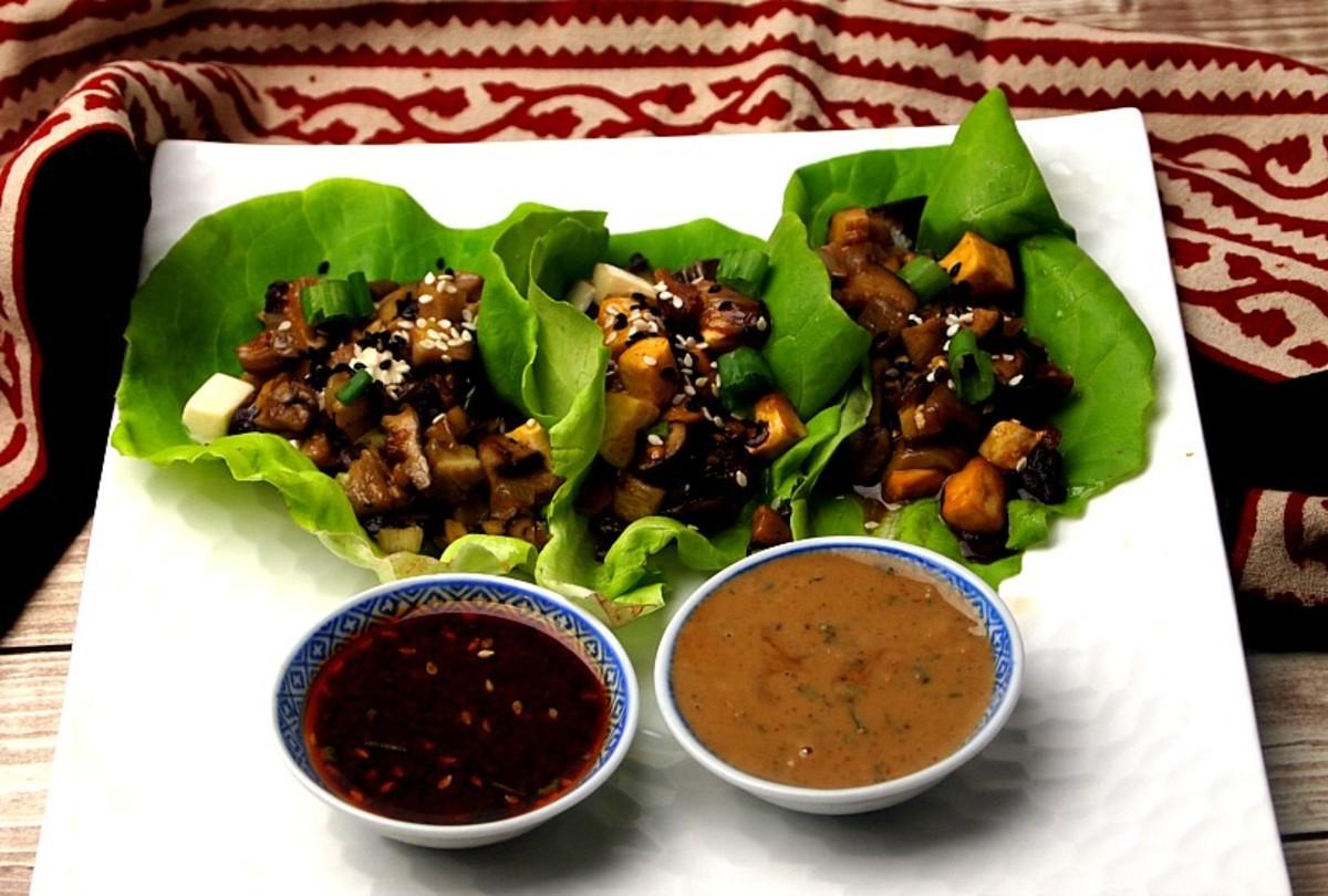 Tofu Mushroom Lettuce Wraps
