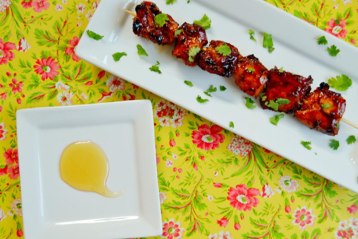 Grill Honey and Porter Glazed Chicken Kebabs