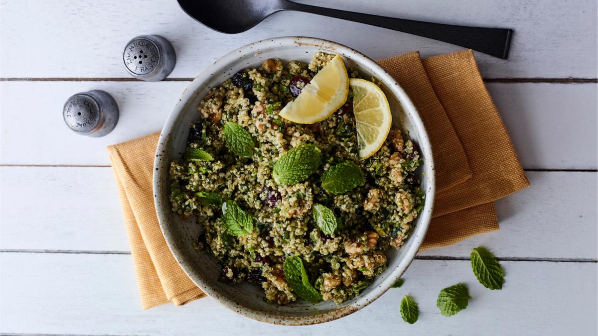 mint chutney quinoa salad